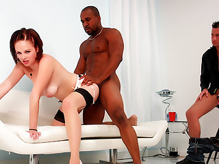 Cuckold Wanks His Limp Dig up While Wife Katie Kox Gets Pummeled by Black Guy