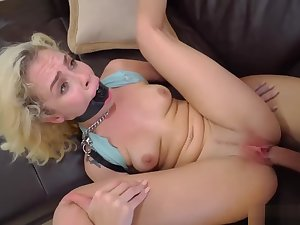 Tied up gagged and blindfolded Kimberly Moss gets treated comparable to a great