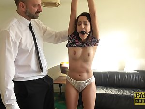 Submissive brunette slut Susy Down in the mouth th