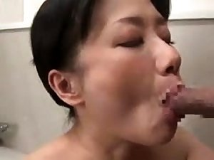 Doggystyle sex with his secured up Japanese girl