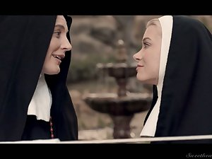 Sinful nuns are rubbing away each others pussies and fabrication love homologous to there's no tomorrow