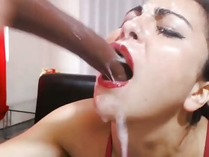 horny slut gagging go the distance webcam