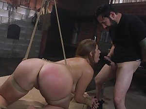 Filial Skylar Snow brutally fucked and made to obey
