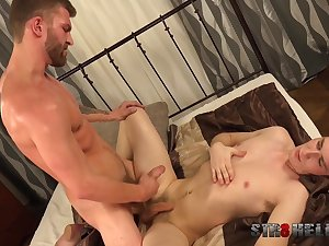 Roasting gay lovers share fantastic BDSM together
