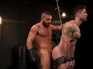 Hard BDSM gay fetish be beneficial to a pair be incumbent on horny lovers