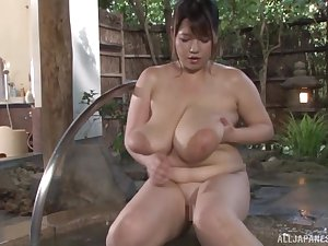 Busty Asian Yuuki likes to play all dirty sex games in someone's skin watering-place