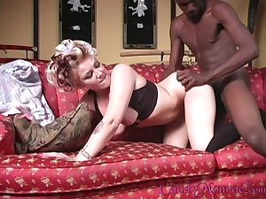 Black amn fucks the naked wife with hubby there to watch