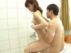 Japanese coitus in the tub with great hardcore coitus included