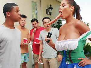 Hardest Oktoberfest group sex for inebriating wife