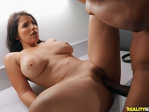 Amateur feels entire BBC working her G spot ask preference a charm