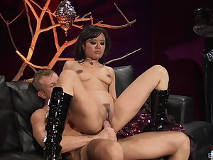 Wild girl Annie Cruz loves to ride long dicks increased by to take cum in frowardness