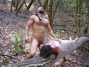 Gays share the ultimate hardcore in the woods