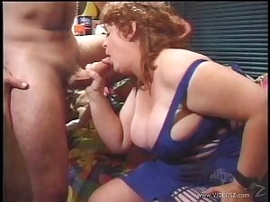 Grown-up bbw with fat tits enjoys getting will not hear of hairy pussy drilled hardcore