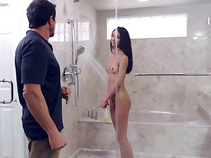 Jada Doll gets fucked by her stepdad in the shower