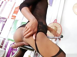 Astonishing xxx video transsexual Stockings hottest watch show