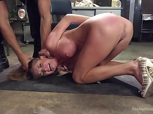 Submissive MILF screams in lust while her master roughly fucks her