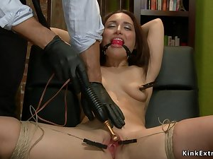 Covetous bound babe ass sex toyed