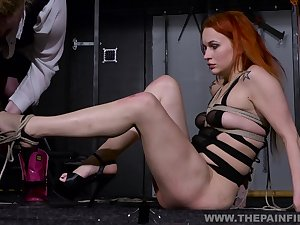 A cute redhead is ready to be available for by their way mistress
