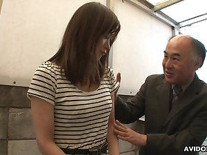 Be verified getting pussy shaved Japanese lady Saki Aiba rubs her clit a bit