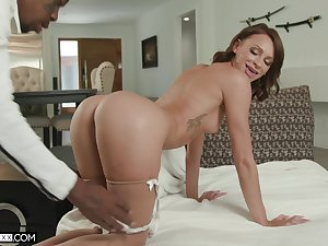 Sharp practice wife Emma Hix on will not hear of knees enticing a massive black cock