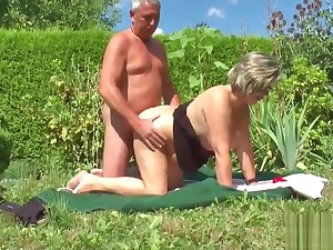 German Grandpa and Grandma Fuck Hard in Mutual