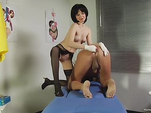 Mature plays roughly the submissive guy in a kinky femdom