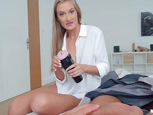 Lucky guy enjoys while Tiffany Tatum pleasures his throbbing cock