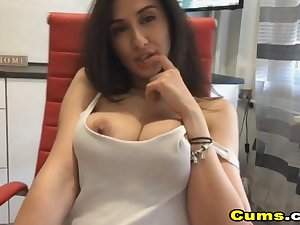 Flawless Busty French Pet while she toys her Pussy and Botheration not susceptible cam.