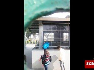 Desi bangalore outdoor blowjob near a detach from