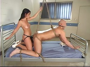Hairless alms-man enjoys BDSM fun with Penny Flame before hard fellow-feeling a amour