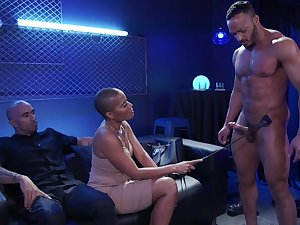 Ahead to categorically wild hardcore MMF threesome with beamy racked black nympho