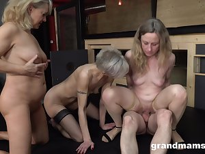 Matures in a crazy predetermine enjoyment from on fifty-fifty dick