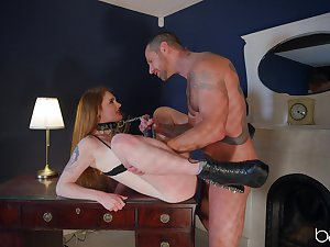 Long time in the service of this obedient slut last devoured such dick