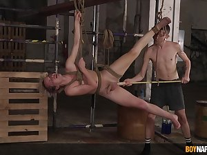 Naked twinks fuck at hand merciless BDSM action on cam