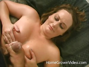 POV video for a coxcomb drilling mouth and pussy for his amateur wife