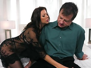 Energized MILF sucks like bantam Baseball designated hitter and gives some executioner titjob