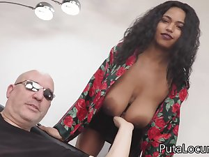 Latina babe with huge saggy boobs porn video