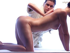 Totally legal babe truly enjoys erotic massage and she's got a sexy body