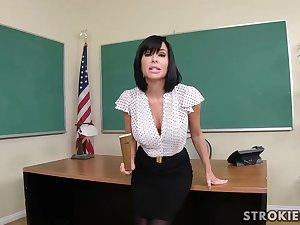 Veronica Avluv is a sumptuous dark haired everywhere immense, rigid hooters who luvs to blow various hard-ons