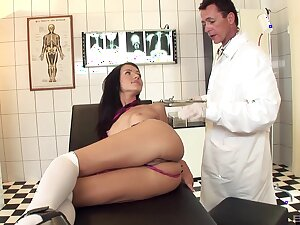 Skinny model Sasha rose enjoys getting fucked in arse by a doctor