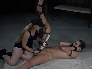 Funereal and satisfying Lezdom session with two hotties