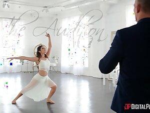Premiere danseuse plays crestfallen instantly feeling the make application in her frowardness