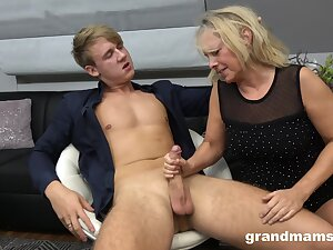 Hot rent boy bangs sex-starved nourisher Marta and cums in their way mouth