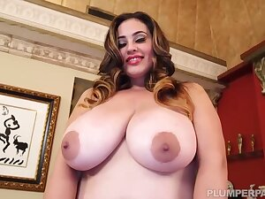 Selena Castro is a smashing obscurity with Cyclopean milk jugs, who likes to ride stiff cocks