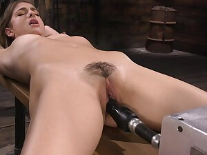 Kristen has a fucking machine in the matter of her pussy and go wool-gathering girl is so sweet