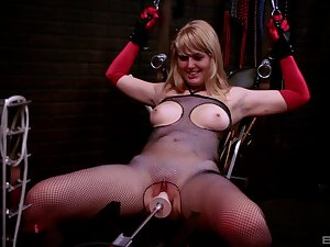 Crude blonde Emma Ash tied up and tortured unconnected with her economize on