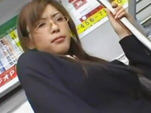 Japanese androgynous on high train