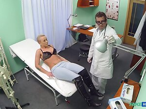 Doctor shows married blonde woman the right counteractant