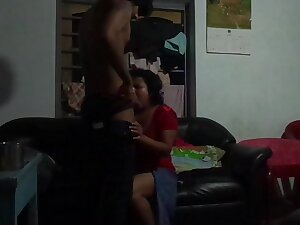 Srilankan Aunty hottie banged wide of blackmailer young old egg