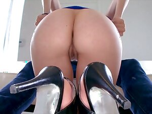 Lewd nympho with flocculent ass wanna nothing but to be fucked doggy